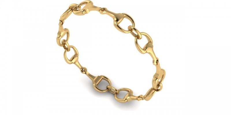18ct Gold Horse Bracelet