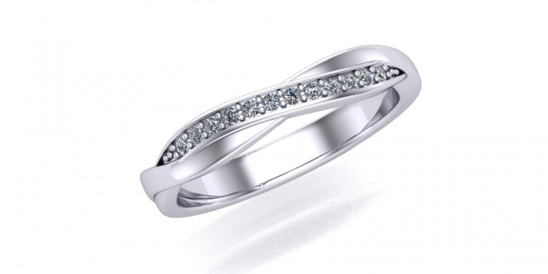 18ct White Gold Fitted Ladies Wedding Ring