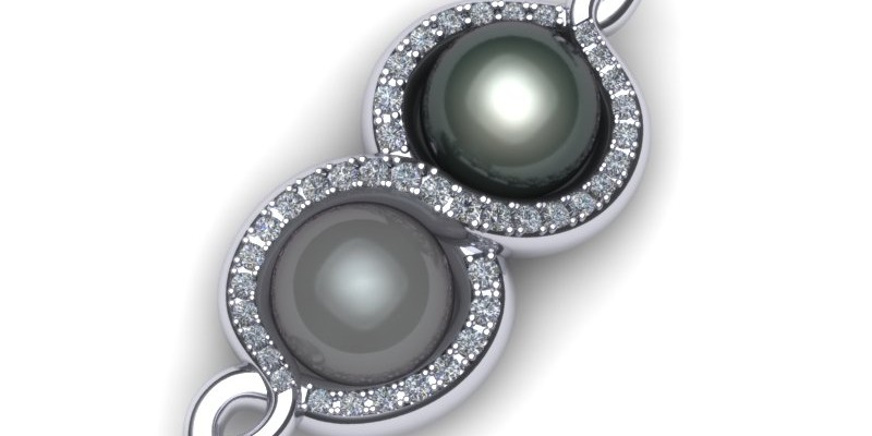 Pearl and Diamond 18ct White Gold Pendant