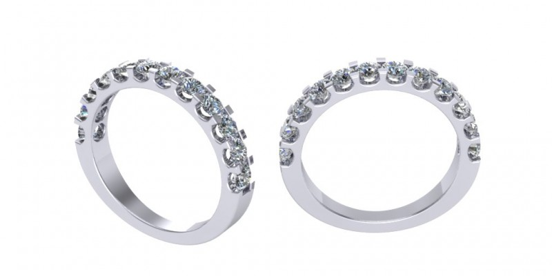 Platinum 12 stone Diamond Eternity Ring