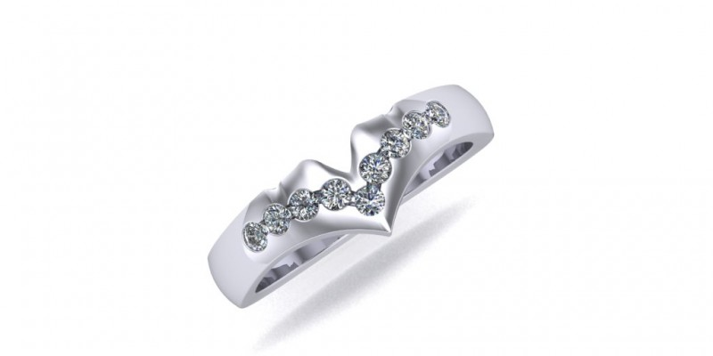 Platinum Fitted Ladies Wedding Ring